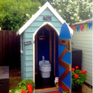 Ecotoilet and cabin
